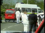 Road rage murder Kenneth Noye extradition LIB Police at scene of murder of Cameron on M25 slip road Van Cameron was driving Police vehicles at scene
