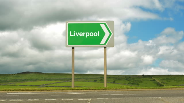 Road sign to Liverpool.
