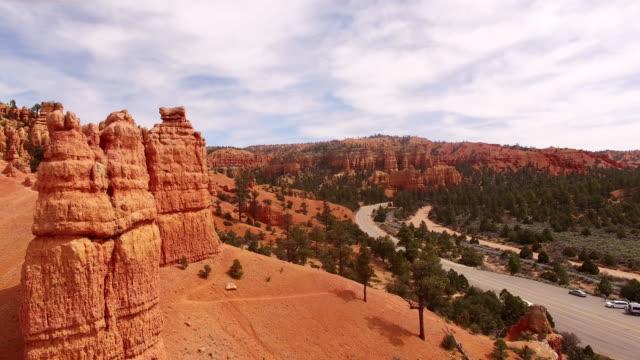 AERIAL vägen genom Canyonlands nationalpark