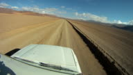 Road trip Point of view Bolivian Altiplano, Bolivia