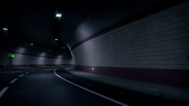 Road tunnel. HD-Gewebeband.
