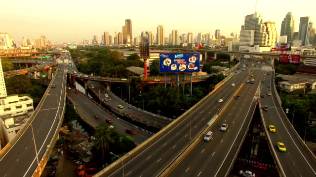 Roads by Drone, Bangkok, Thailand by Drone