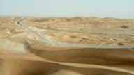 Roads Through Empty Quarter Desert