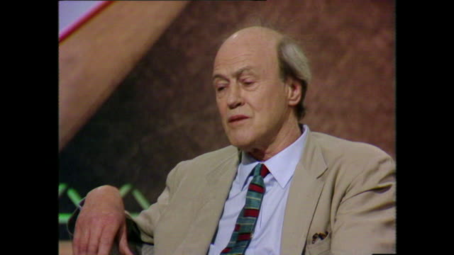 Roald Dahl reflects with sadness on his memories of seeing a former Archbishop of Canterbury's cruel use of corporal punishment 1984 LLVG340R AEVZ001J
