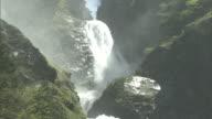 Roaring torrents of water at the Shomyo Falls