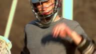 Rob Removes Lacrosse Helmet - Close Up 1