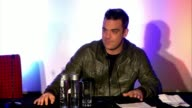 Robbie Williams announces his tour at Robbie Williams Announces European Tour at Soho Hotel on November 26 2012 in London England