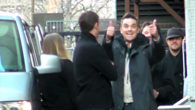 Robbie Williams at GMTV ITV Studios London at the Celebrity Sightings in London at London England