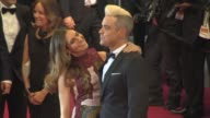 Robbie Williams Ayda Field at 'The Sea of Trees' Red Carpet at Palais des Festivals on May 16 2015 in Cannes France