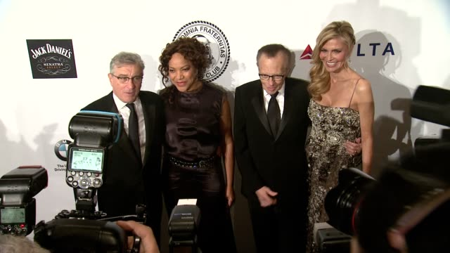 Robert De Niro Grace Hightower Larry King Shawn King and Drena De Niro at Friars Foundation Gala Honoring Robert De Niro And Carlos Slim at The...