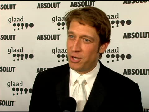 Robert Gant on presenting to Ang Lee on the NY response to Ang Lee's work on the GLAAD organization at the GLAAD Awards at the Kodak Theatre in...