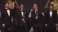 SPEECH Robert Legato Adam Valdez Andrew R Jones and Dan Lemmon at the 89th Annual Academy Awards Press Room at Hollywood Highland Center on February...