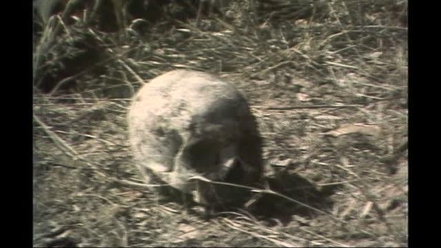 Mugabe profile AS310783004 / Skull on ground after Matabeland massacre