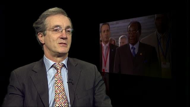 Mugabe profile ENGLAND London INT Richard Dowden interview SOT