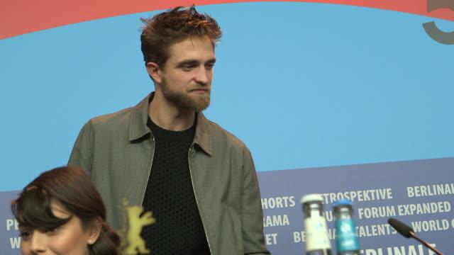BROLL Robert Pattinson Dane DeHaan Anton Corbijn Alessandra Mastronardi at 'Life' Press Conference Arrivals 65th Berlin Film Festival on February 09...