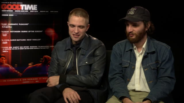 INTERVIEW Robert Pattinson Joshua Safdie on telling a story on working class criminals at 'Good Time' Interview 61st BFI London Film Festival at Soho...