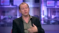 London GIR INT Robert Webb LIVE STUDIO Interview SOT on his father / on being a boy / on losing his mother / on how open he is in book