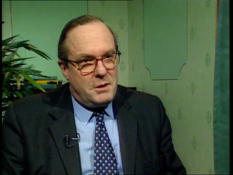 Robin Cook attacks William Hague on race ITN London Millbank Michael Ancram MP interviewed SOT By accusing us of playing race card he's playing it...