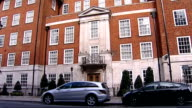 London Harley Street Exterior of clinic where Robin Gibb is being treated for cancer and pneumonia Name over entrance 'The Clinic'