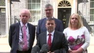London Downing Street EXT Robin Swann press conference SOT