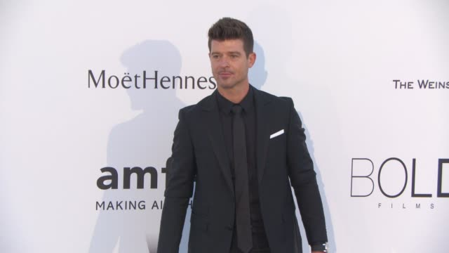 Robin Thicke at amfAR 22nd Cinema Against AIDS Gala Presented By Bold Films And Harry Winston at Hotel du CapEdenRoc on May 21 2015 in Cap d'Antibes...
