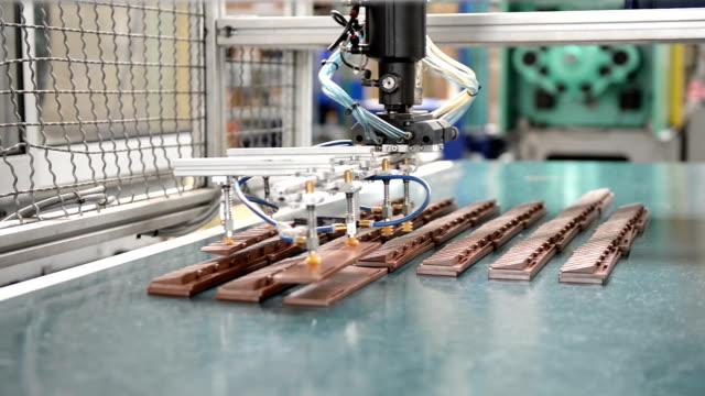 Robotic arm in factory