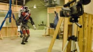 Robotics Senior Research Scientist David Conner and Computer Science in Robotics PhD Alex Stumpf of TU Darmstadt position the ViGIR Team robot for...