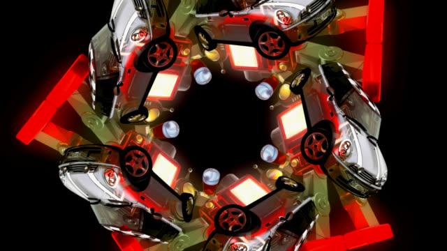 Robots and cars kaleidoscope (HD 720 Original)