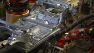 Robots Welding 0n Car Body