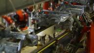 Robots Welding On Car Body