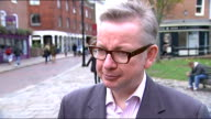 poll shows UKIP with 13 point lead Michael Gove interview ENGLAND Kent Rochester EXT Michael Gove MP interview SOT re byelection and EU demand for an...