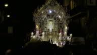 Rocio virgin statue in seville at night paso