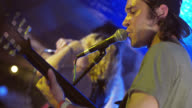Rock band perform on stage at South By Southwest music festival