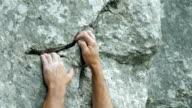 Rock Climber Close-up (4K/UHD to HD)