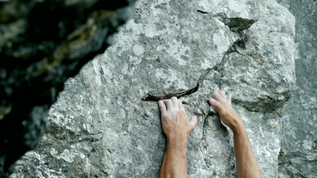Rock Climber Close-up (4K/UHD to HD)