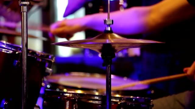 Rock concert, drummer.