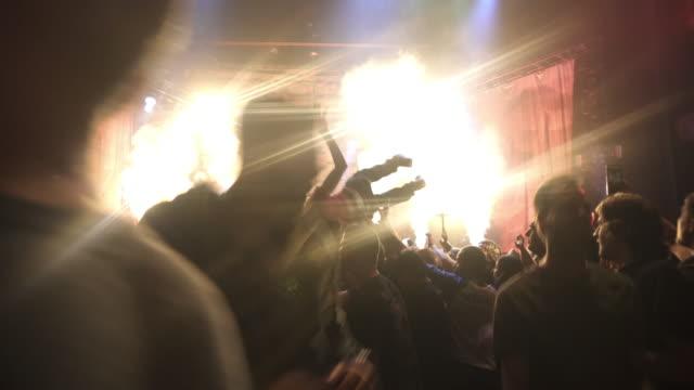 4K MONTAGE - Rock Concert Stadium Show Crowd Bodysurfing