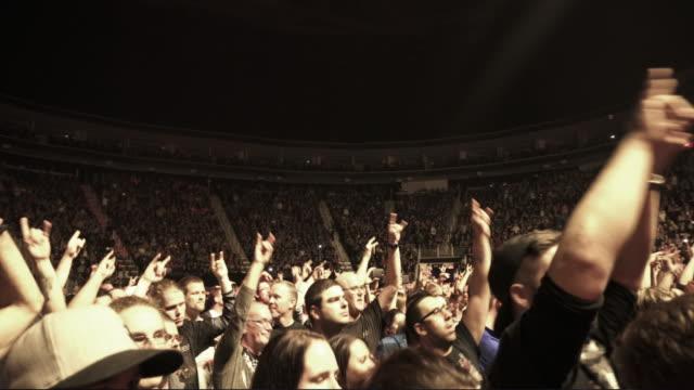 4K MONTAGE - Rock Concert Stadium Show Crowd Waving