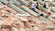 Rock for dam construction.