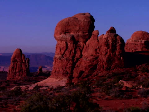 Rock formations in Arches National Park, Moab, Utah