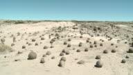 Rock formations in ischigualasto in san juan province of argentina