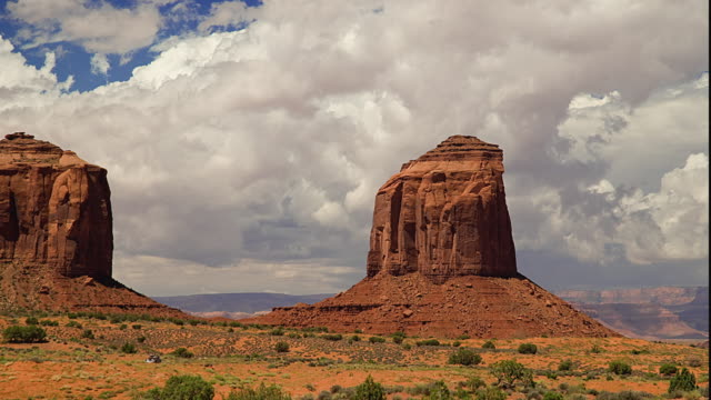 WS T/L Rock formations in landscape / Monument Valley, Utah, USA
