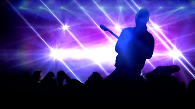 Rock star concert. HD