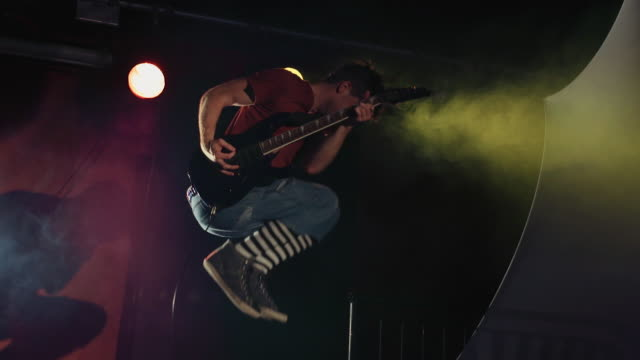 Rock Star Guitar Jump in Super Slow Motion 2