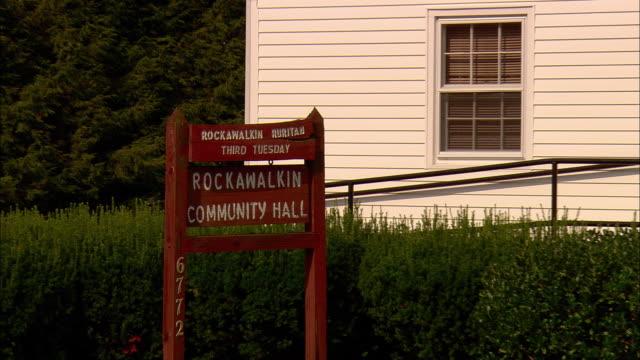 ZO, WS, Rockawalkin Community Hall, Rockawalkin, Maryland, USA