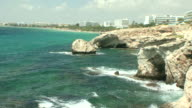 MS Rocks by sea and beach / Agia Napa, Cyprus