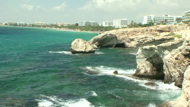 MS Rocks by sea and beach / Agia Napa, Cyprus