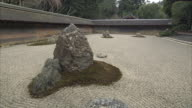 MS Rocks in rock garden at Ryoan-ji temple, Kyoto, Japan,