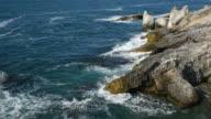 Rocky Coast and Sea Waves