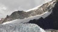 CU of rocky Huayna Potosi glacier in Andes Region of Bolivia